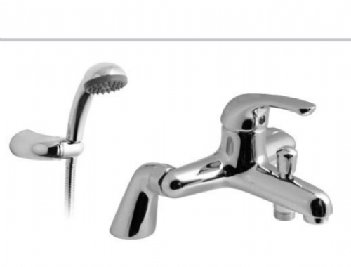 Vado Axis Pillar Mounted Bath & Shower Mixer With Shower Head In Chrome